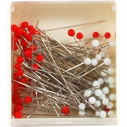 Pins Silk Glass Head 100 Count