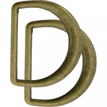 D Rings Clover 1.1875 Antique Gold