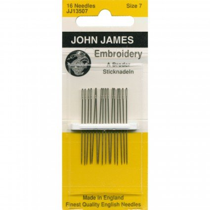 John James Embroidery Needles size 7