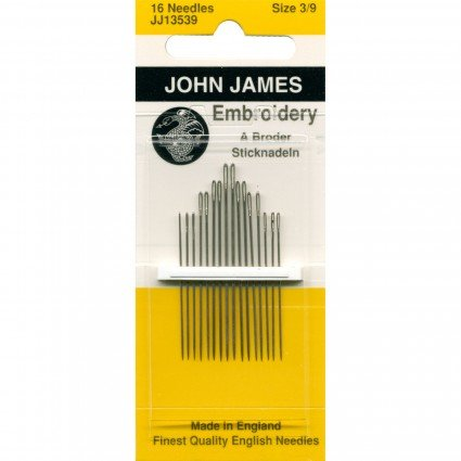 John James Embroidery Needles Sz 3/9