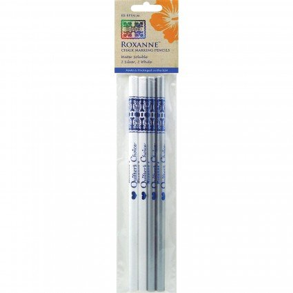 White & Silver Chalk Marking Pencils