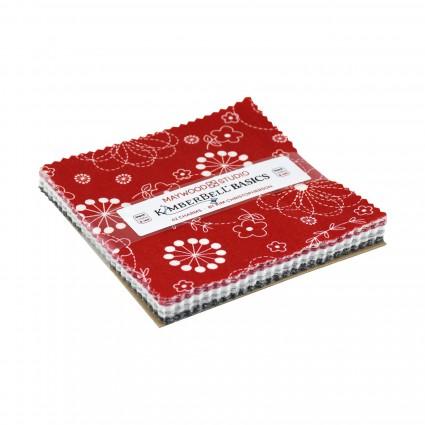 KimberBell Basics Black/White/Red 5 Squares