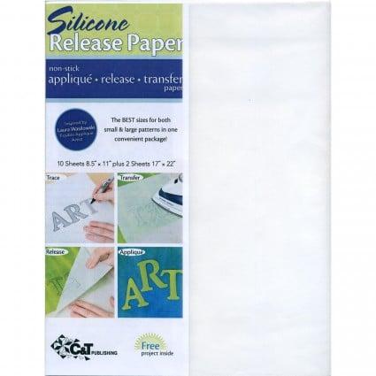 Silicone Release Paper - Non Stick Applique, release, transfer paper