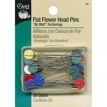Flat Flower Head Pins