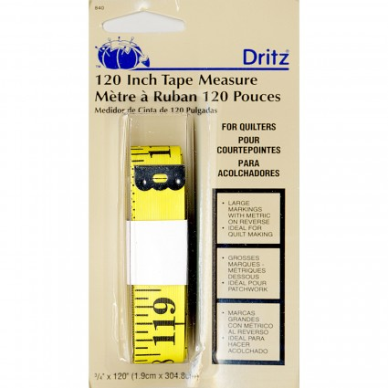 Dritz Quilter's Tape Measure - 120