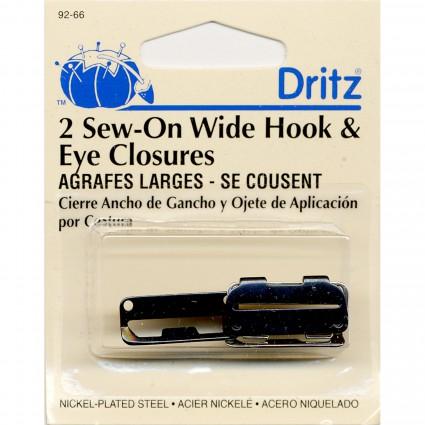 Wide Hook & Eye Closure 2ct Asst