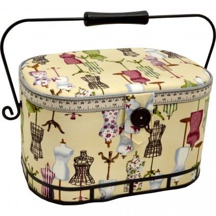 Large Oval Sewing Basket