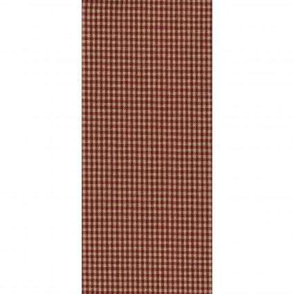 Tea Towel Mini Check  Red /Tan