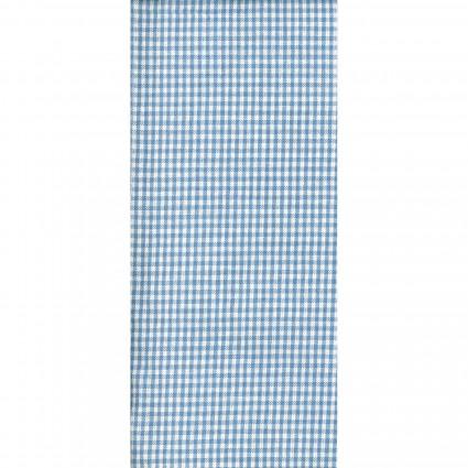 Tea Towel Mini Check Lt Blue