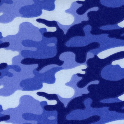 Flannel Prints Camo Blue