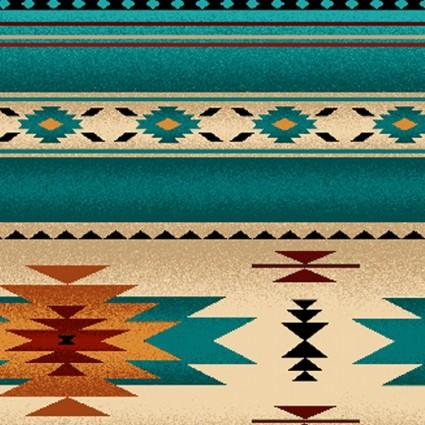Tucson Stripe - Turquoise<br/>Elizabeth's Studio 201-TUR