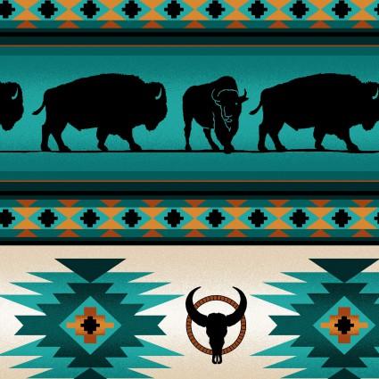 Buffalo Stripe - Turquoise<br/>Elizabeth's Studio 485-TUR