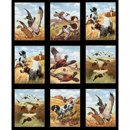 Hunting Dogs & Ducks Block Panel