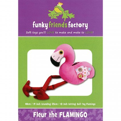 Funky Friends Pattern Fleur Flamingo