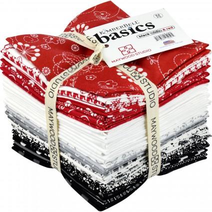Kimberbell Basics Fat Quarter Bundle Black White Red