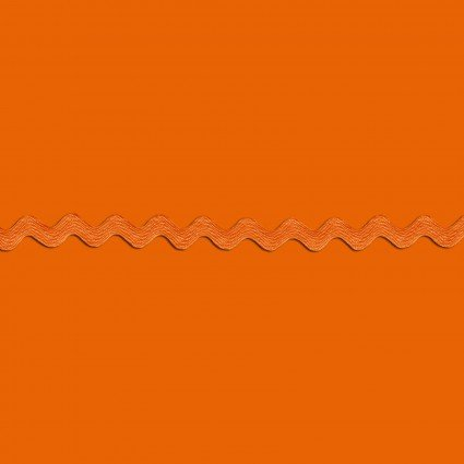 Orange Ric Rac 1/2