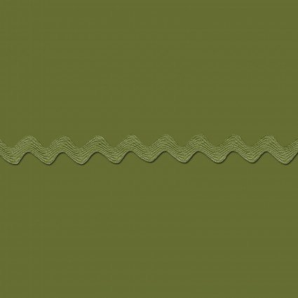 Ric Rac 5/8 Olive by the yard