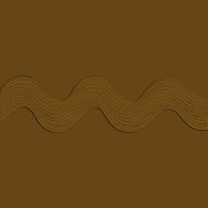 Polyester Ric Rac 1 1/4 inch Brown