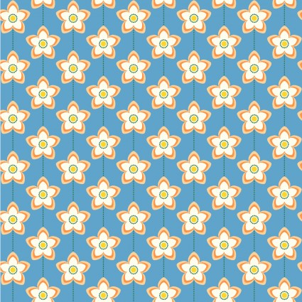 State Flower - Orange Blossom by Tiffany Lerman for In The Beginning Fabrics