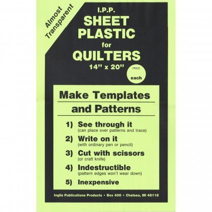 Template Plastic for Quilters (14x20)