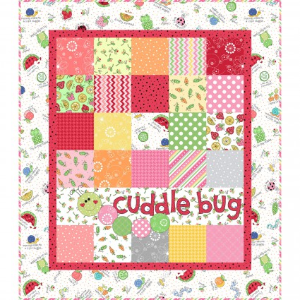 Lil' Sprout Pink Flannel Quilt Kit designed by Kim Christopherson for Maywood Studio - copy