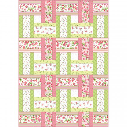 Sweet Pea Flannel Sweet Weave Quilt Kit designed by Rachel Shelburne for Maywood Studio, 48 x 68