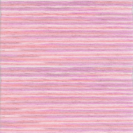 Pink Peach 5001 Cosmo Seasons Variegated Cotton Embroidery Floss 8m Skein