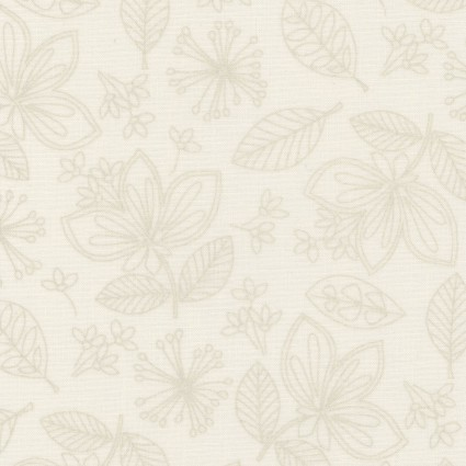 Pearl Essence - MAS112-LW  - Linen Wild Flowers and Leaves