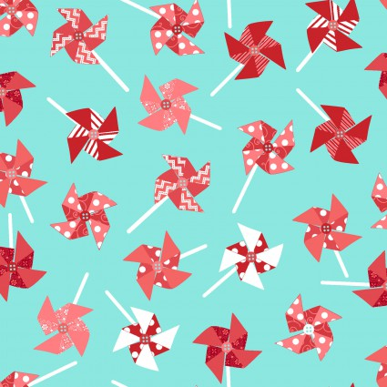 Sprinkle Sunshine Pinwheels - Aqua