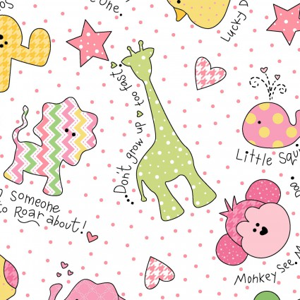 Little One Flannel by Kimberbell - Pink masf8222-zp - 1/3 yd