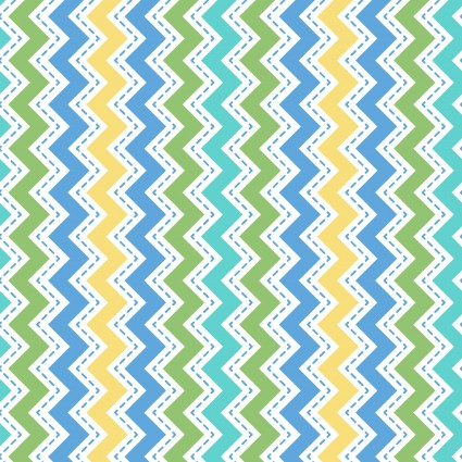*Lil' Sprout Flannel Too!, Zig Zag, blue