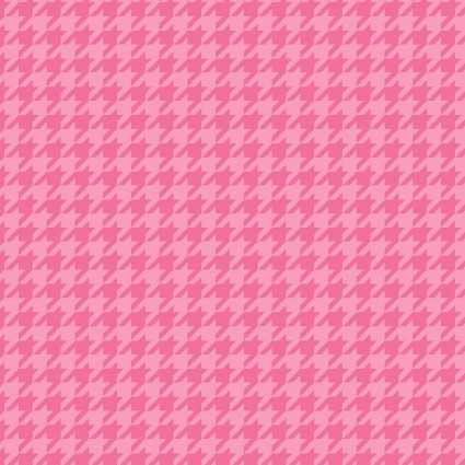 Lil' Sprout Flannelpink on pink houndstooth