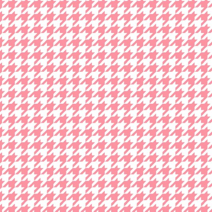*Lil' Sprout Flannel Too!, Houndstooth, pink/white