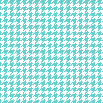 *Lil' Sprout Flannel Too! Houndstooth aqua/white