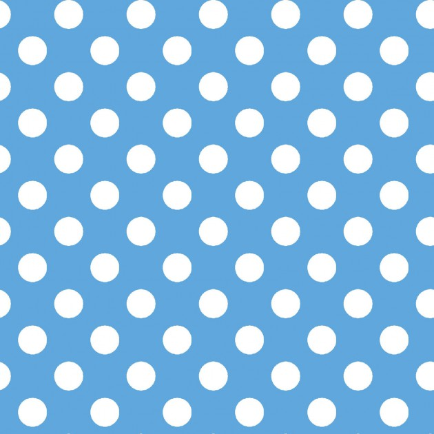 Lil' Sprout Flannelblue with white dots