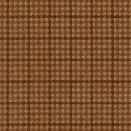 Woolies Flannel - Plaid Lt Brown