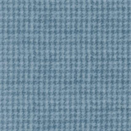 Woolies Flannel- Houndstooth, light blue
