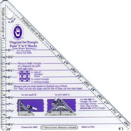 Small Diagonal Set Triangle Ruler