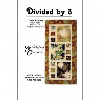 Divided by 3 Tablerunner Pattern