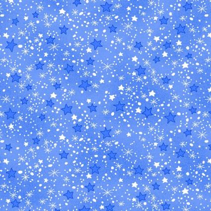 Comfy Flannel Prints blue stars