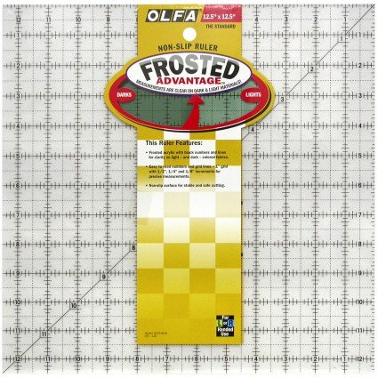 Frosted Advantage Ruler 12 square