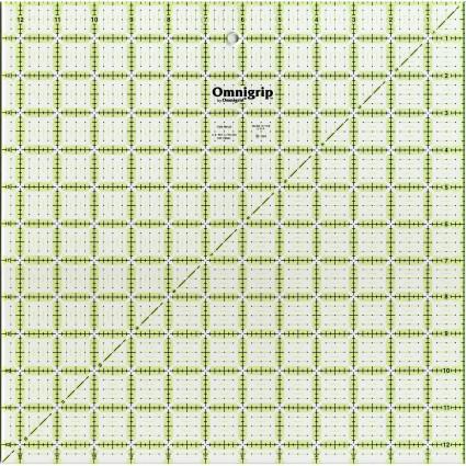 Omnigrip Non-Slip Neon Ruler 12.5 Square