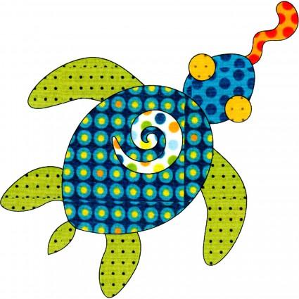 Appliqu� Elementz Turtle Tails Retro Dotz