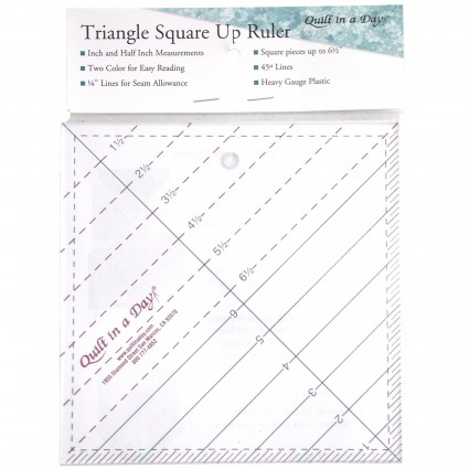 6 1/2in Triangle Square Up Ruler