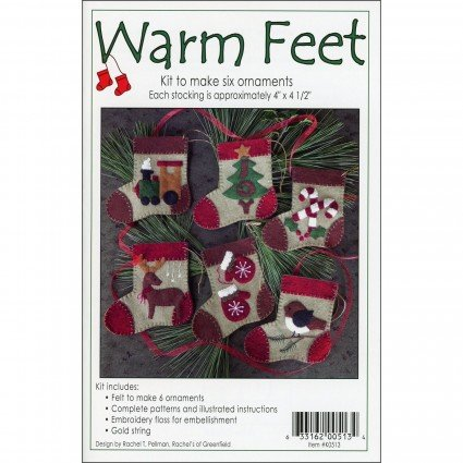 WARM FEET ORNAMENTS WOOLFELT KIT