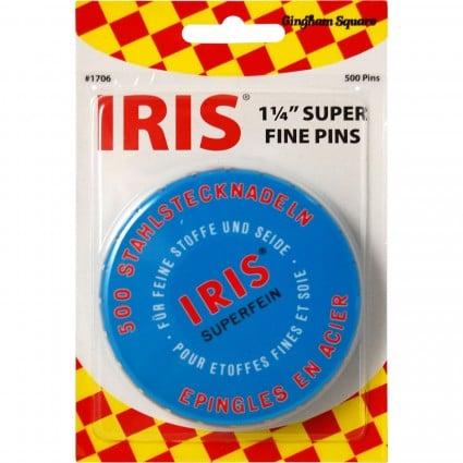 Iris Swiss 1-1/4 Super Fine Pins