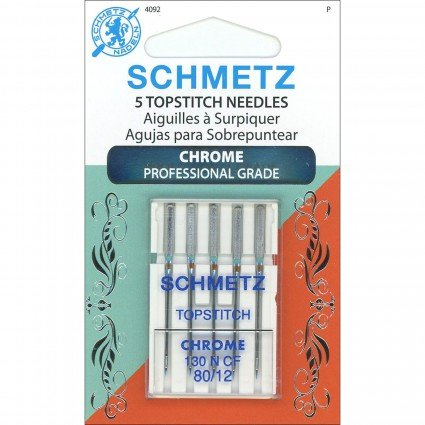 Schmetz Topstitch Chrome Needles 5ct