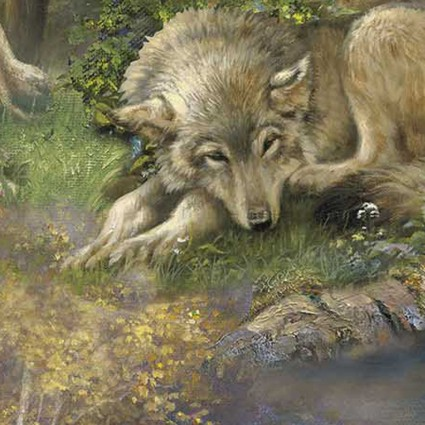 LAZY AFTERNOON WOLF SCENIC