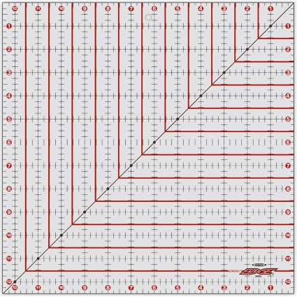 Cutting Edge Ruler 12.5 Sq