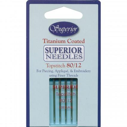 Superior Titanium Coated Topstitch Needles